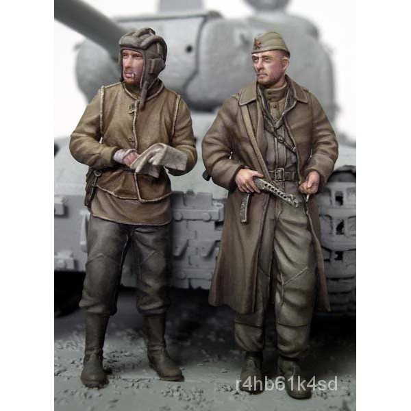 Resin Figure Kit 1/35 Soviet Tankers Unainted Garage Resin Model Kit#¥%¥# d5Ff
