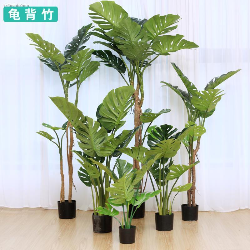 การจำลองพันธุ์ไม้อวบน้ำ☂พืชจำลอง monstera พืชสีเขียวกระถางใบปลอมขนาดใหญ่บอนไซนอร์ดิกตกแต่งภายในบ้านชั้นเครื่องประดับตกแต