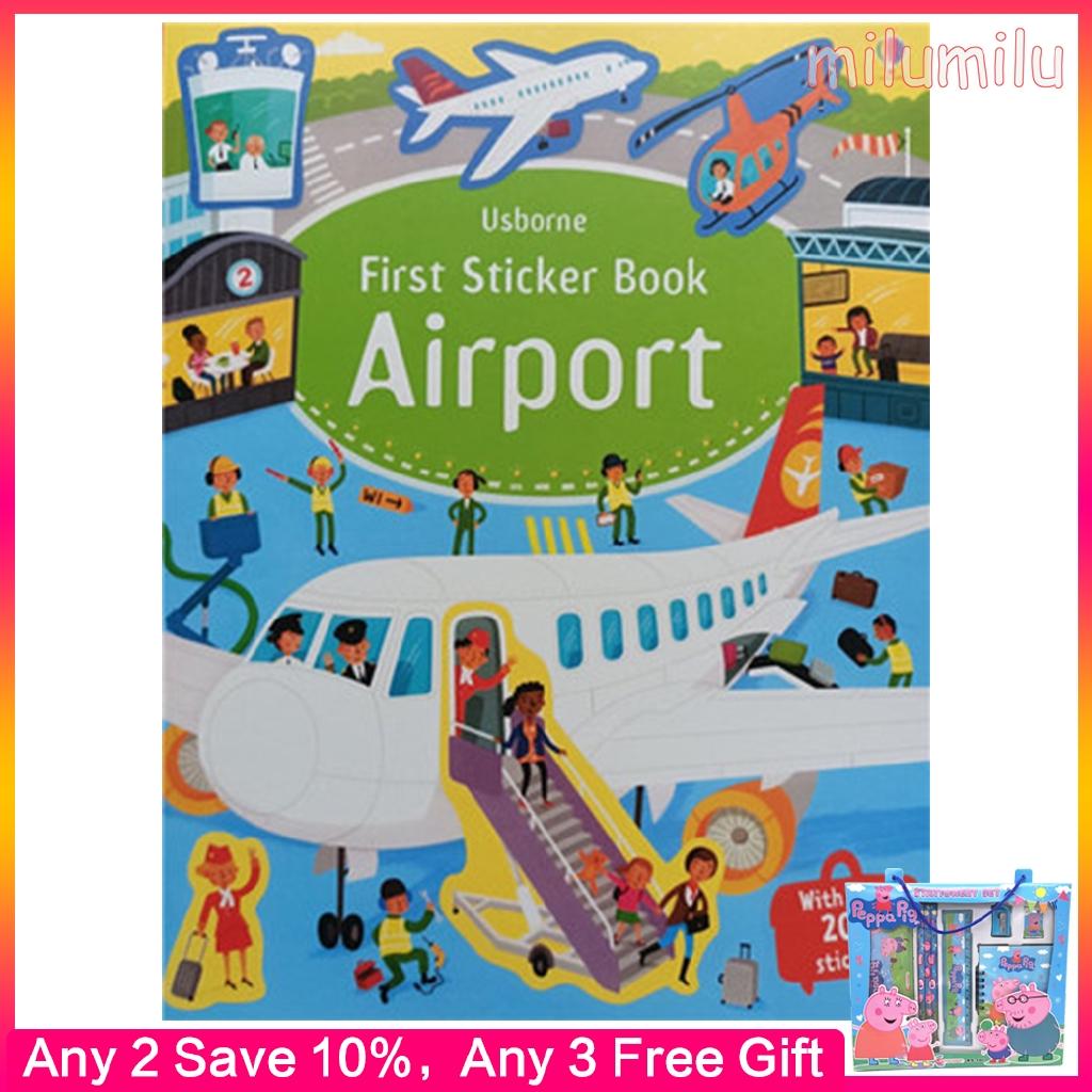 Usborne First Sticker Books Books หนังสือภาพสําหรับเด็ก