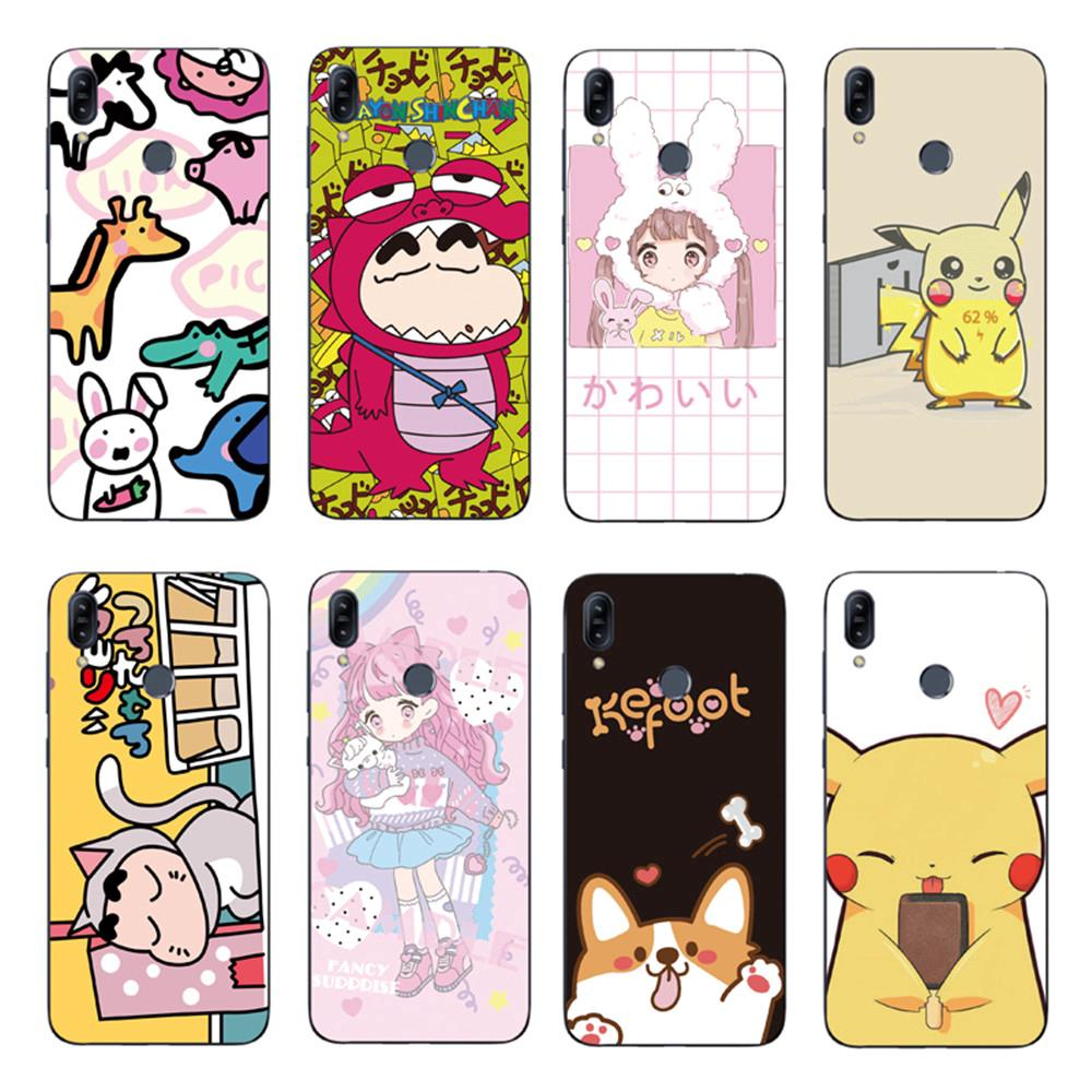 Review Cartoon Pikachu Back Cover Asus Zenfone Max Pro M2 ZB631KL / ZB633KL Soft TPU Case