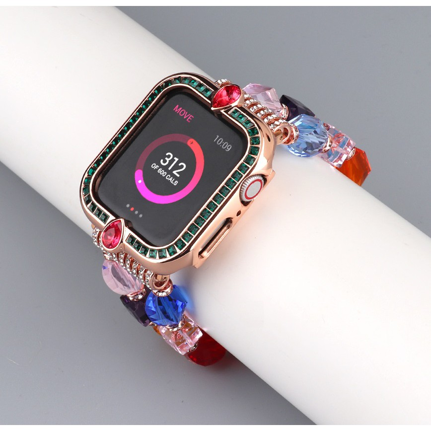 Apple Watch Case Diamond Cover for Apple Watch SE 6 5 4 3 Metal Jewelry Protective Case Size 38mm 40mm 42mm 44mm Fashion Bumper