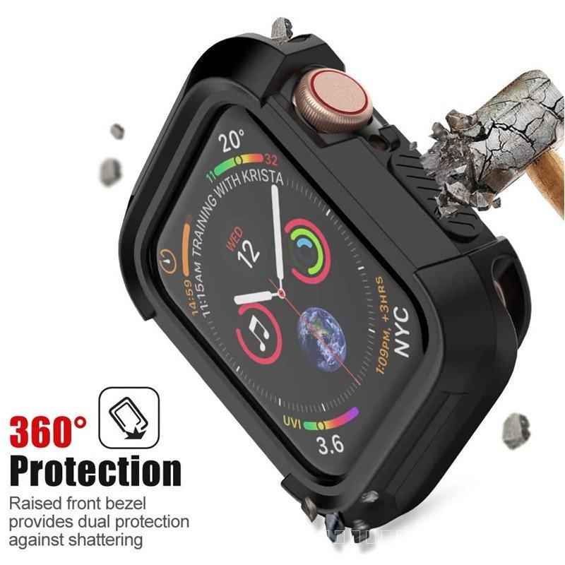 ป้องกันกันชนสำหรับApple Watch SE Series 6กรณี44มม.40มม.ทนทานกันกระแทกสำหรับApplewatch 5 4 IWatch 42Mm 38Mm TUAK