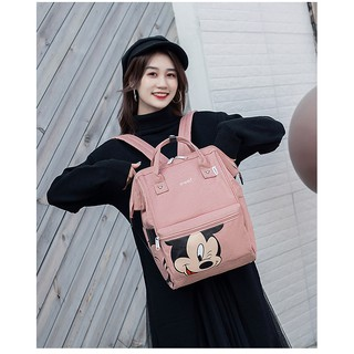 Review กระเป๋า Anello Mickey ใบใหญ่ มี 5 / กระเป๋า Anello Đisnēy 2019 Polyester Canvas Backpack Limited