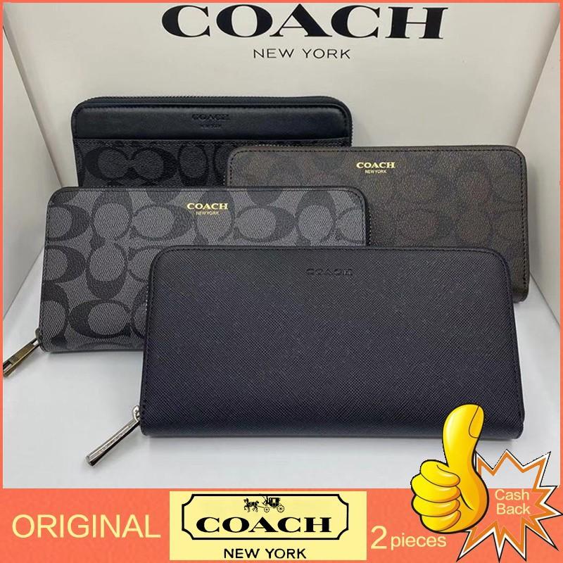 🔥กระเป๋าสตางค์🔥 กระเป๋าสตางค์ใบสั้น กระเป๋าสตางค์ใบกลาง 【ขายจํากัดเวลา/จัดส่งตอนนี้】🐘coach แท้ 100%/ กระเป๋าสตางค์ผู้