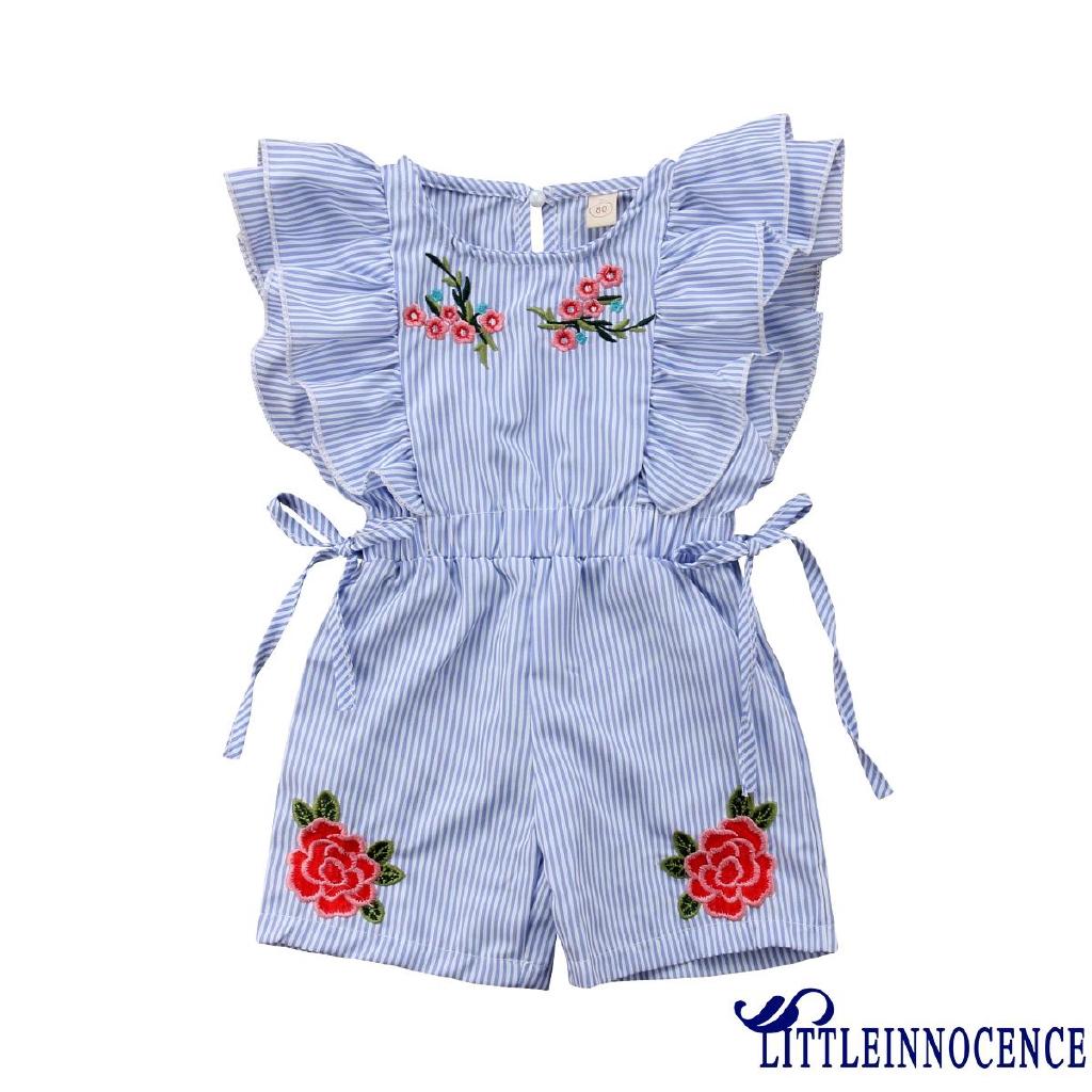 Fashion Toddler Kids Baby Girls Stripe Romper Bodysuit Jumpsuit Playsuit Clothes