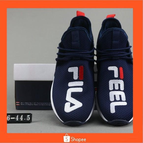 FILA FHT RJ MIND X Fila โช้คอัพน้ำหนักเบารองเท้าวิ่งสีน้ำเงิน