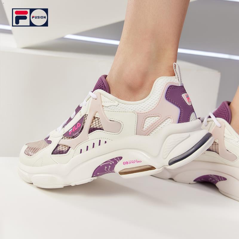 ✖☜FILA FUSION RJV รองเท้าวิ่งผู้หญิงฤดูร้อนปี 2021 ใหม่รองเท้ากีฬาผู้หญิงรองเท้าเก่ารองเท้าผู้หญิง