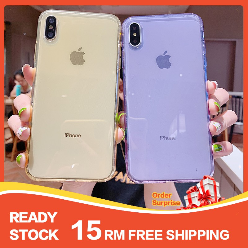 【Ready stock】SAMSUNG S5 S6 Edge S7 S9 S10 S20 Note10 Plus S10E  M20 M30 A40S J3 J5 J3 J7 J8 Pro Transparent Flexible Silicone Mobile Phone Case