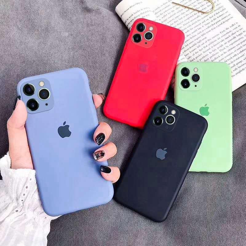 เคสเคสโทรศัพท์ซิลิโคนสีพื้นสําหรับ Iphone 11 Max Pro Iphone 7 Iphone 8 Apple 7p Plus Xs Max Xr Xs Iphone 6s I 5 5seเคส FD