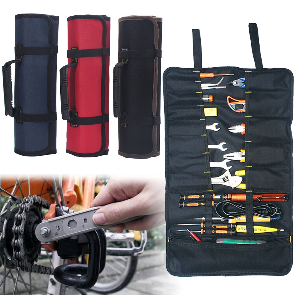 14pocket 590mm*320mm TOOL ROLL Spanner Wrench Tool Storage Bag Case Fold Up