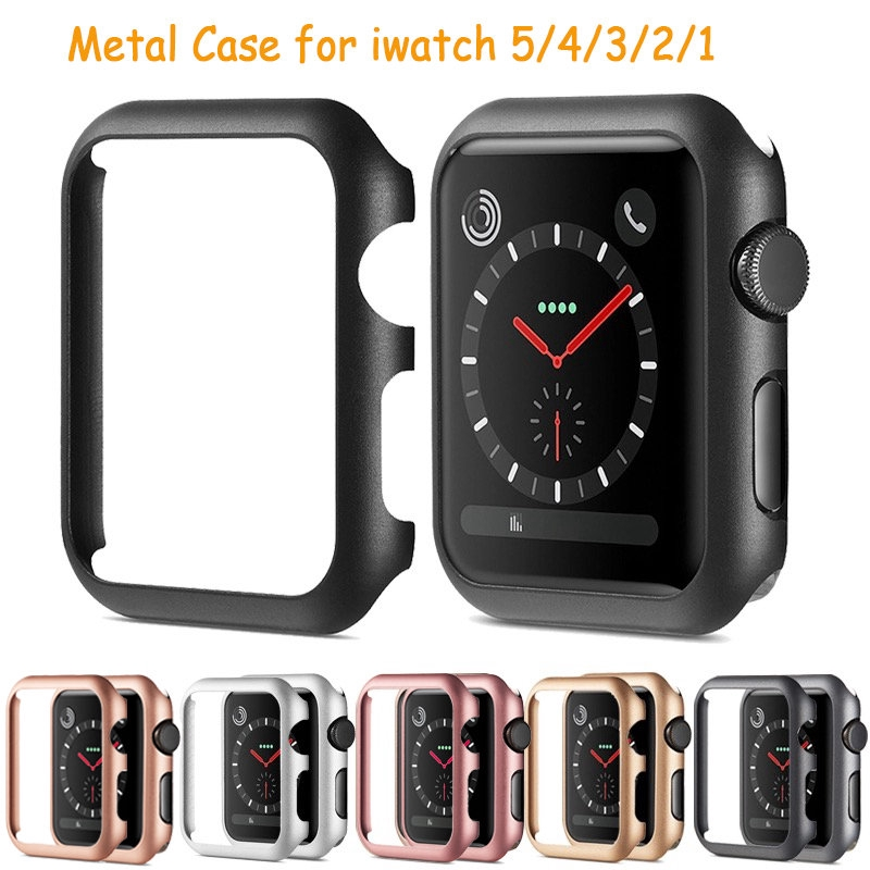 ( Cod ) Anti-Scratch Shockproof Hard Metal Bumper Cover Watch Protect Case for Apple Iwatch Series 5 4 3 2 1 38mm/42mm 40mm/44mm