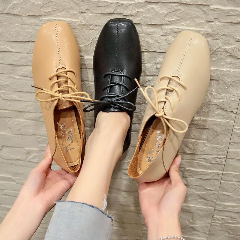 🍊รองเท้าทำงาน รองเท้าคัชชูหัวแหลมผู้หญิง รองเท้าผู้หญิง  รองเท้าแฟชั่น รองเท้าหนังนิ่ม รองเท้าส้นแบน งานดี