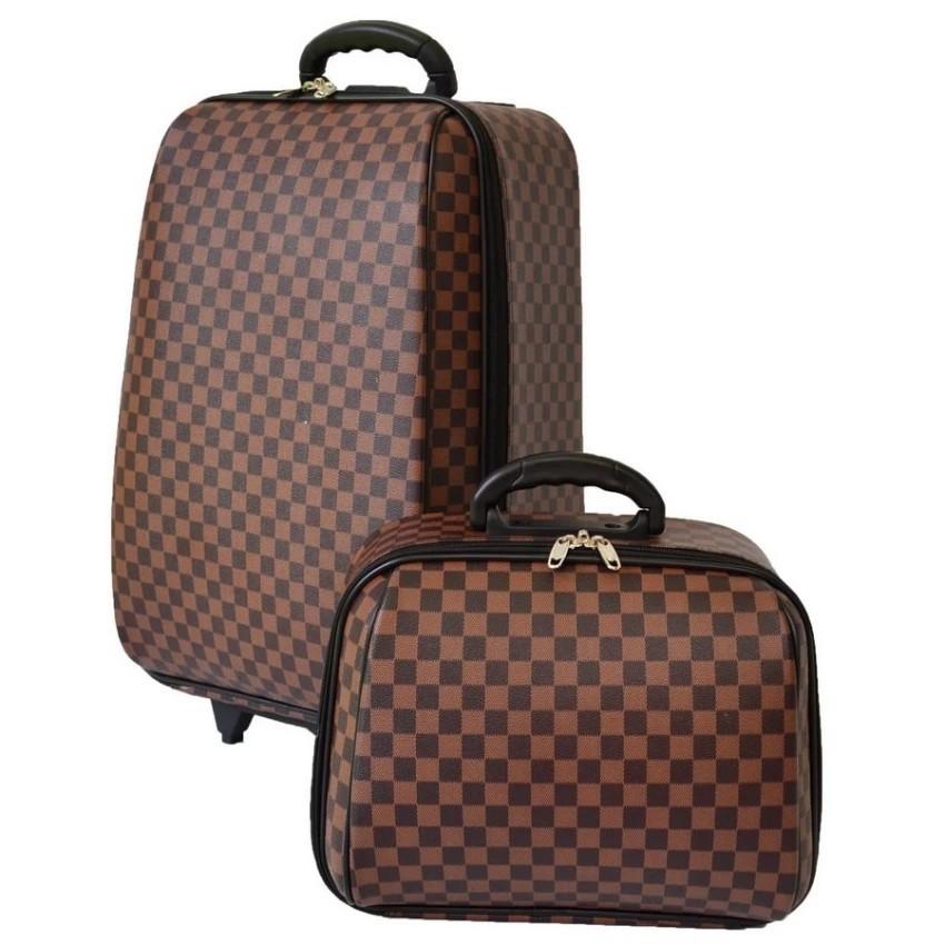 กระเป๋าเดินทาง กระเป๋าเดินทางล้อลาก Wheal  เซ็ทคู่ ลิขสิทธิ์แท้ 22/14 นิ้ว รุ่น Louise Brow กระเป๋าล้อลาก กระเป๋าเดินทาง