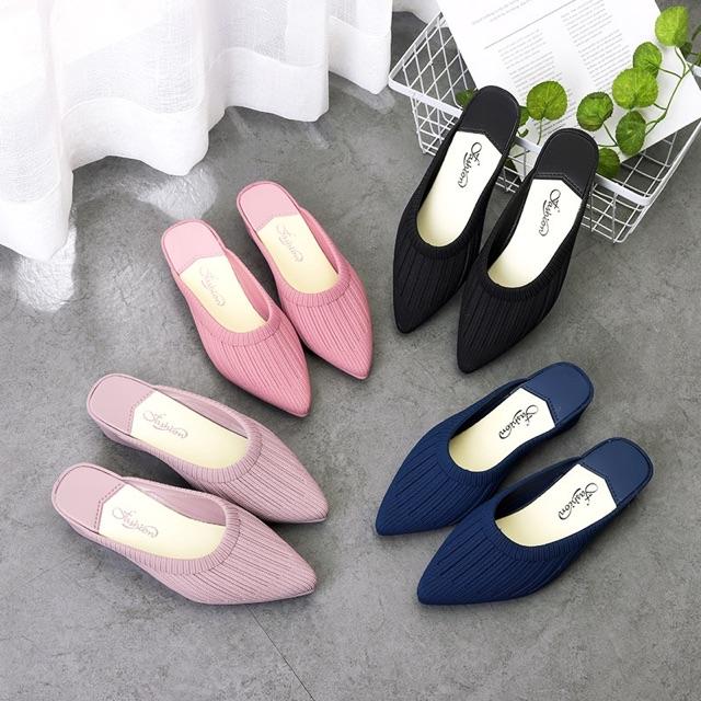 สินค้าจริงพร้อมส่ง??เปิดส้นนางงาม?รองเท้าสวมเปิดส้นเสริมส้น1.5นิ้ว ใส่แล้วดูดีมากๆจ้า??
