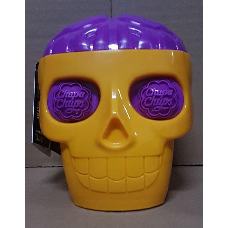 ☌☂อมยิ้ม Chupa Chups 3D Skull หัวกะโหลก พร้อมส่ง (Chups 10 Lollipops)
