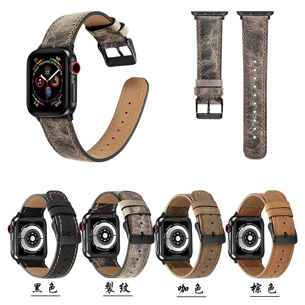 Round tail apple watch strap สายนาฬิกาหนัง iwatch series SE 6 5 4 3 2 1 Leather watch strap 38 40 42 44mm
