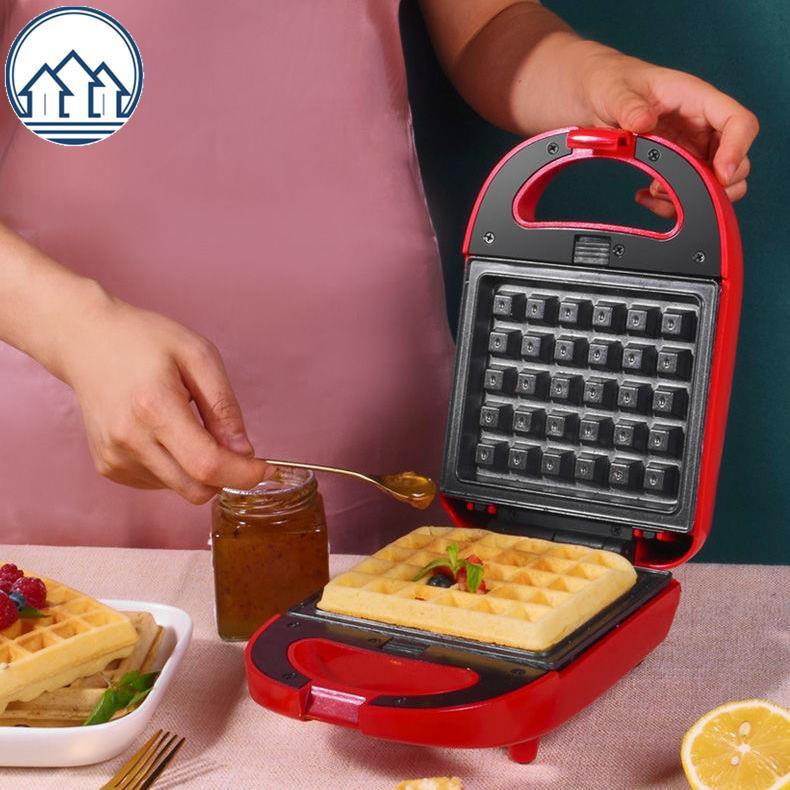 เครื่องแซนวิชเครื่องขนมปังขนมปังเครื่องไฟอาหารเครื่องวาฟเฟิลบ้าน Panini อเนกประสงค์ขนมปังปิ้งย่างกด
