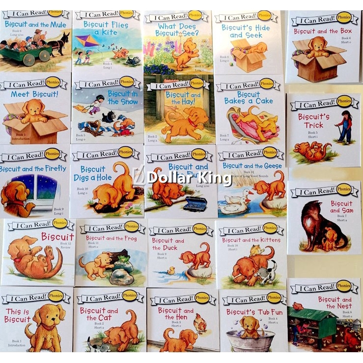 """24 Books Biscuit Phonics English Picture Books """"I Can Read"""" Story Books Kids Gifts"""