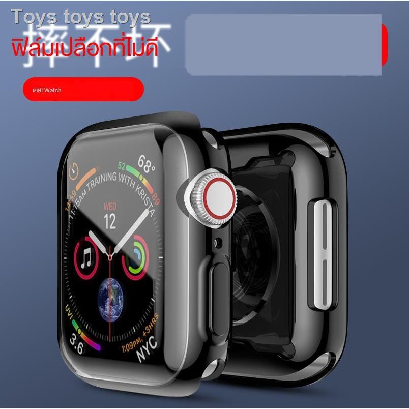 เคสยางซิลิโคนการ์ตูน Fashion tpu caseเคสซิลิโคนอ่อนนุ่มสำหรับApplewatch6 protective shell iwatch cover se Apple watch 5th generation 4/3/2/1 soft silicone transparent iphone frame 44/42mm all-inclusive electroplating original accessory film