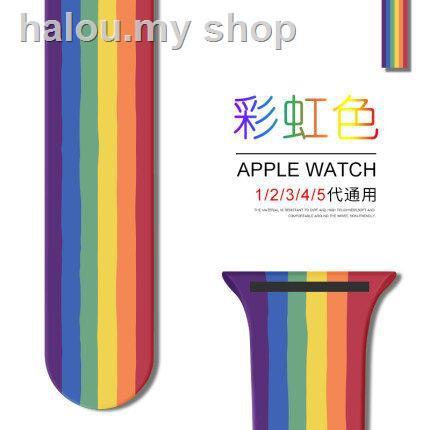 ̅ สายนาฬิกาข้อมือซิลิโคนสําหรับ Applewatch5/4/3/2/1 Generation S5 With 40/42/44mm 38 Smart Sports Series/s4