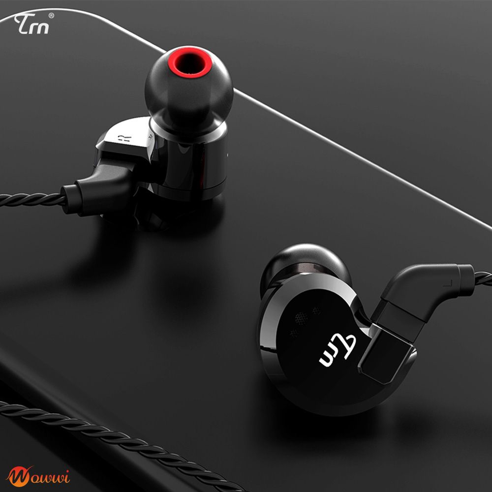 wowwi❀ TRN V80 2DD+2BA Hybrid In Earphone HIFI DJ Monitor Running With 2PIN Detachable