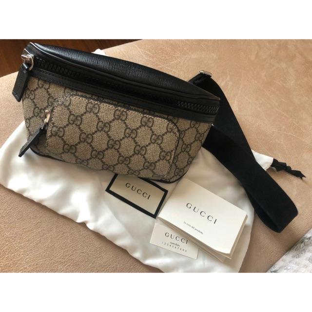 like new!!! Gucci Supreme Belt bag รุ่นคุณโฟร์ คาดได้ทั้งอก ทั้งเอว