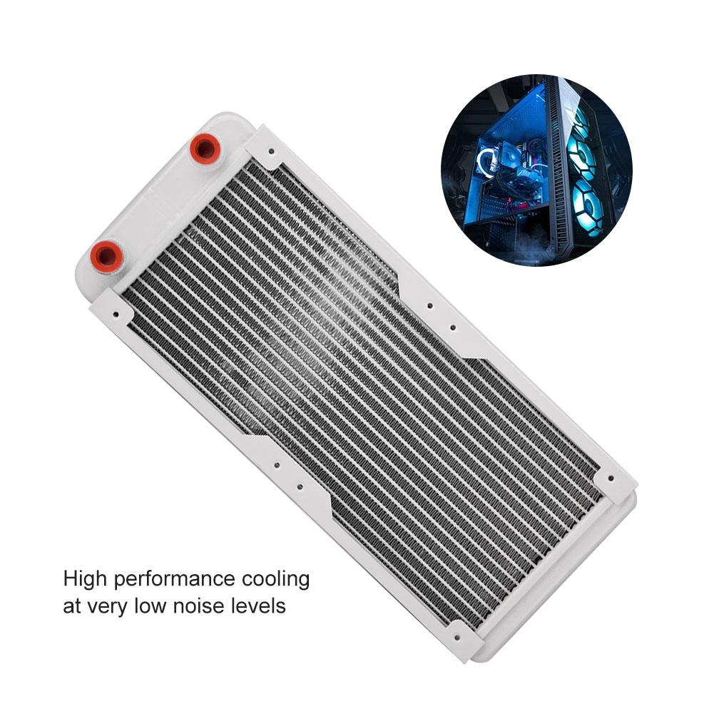 360MM Aluminum G1//4 12 Tubes Radiator Heat Sink Heatsink For PC Water Cooling HD