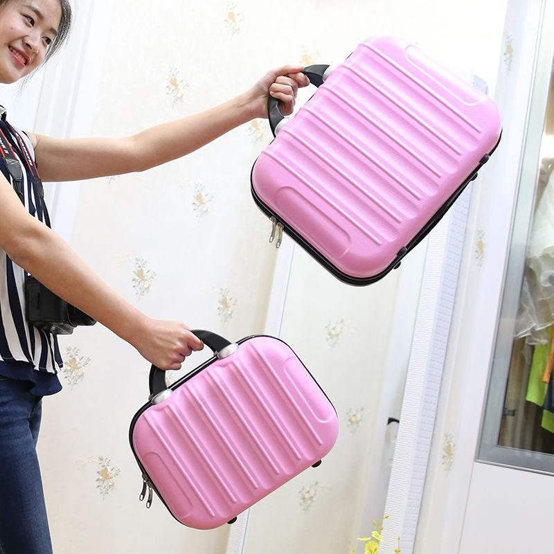 กระเป๋าเครื่องสำอางใบเล็กน่ารัก 14 นิ้วกระเป๋ามินิขนาดใหญ่ความจุ 16 นิ้วรุ่นเกาหลีกระเป๋าเดินทางขนาดเล็กมัลติฟังก์ชั่น