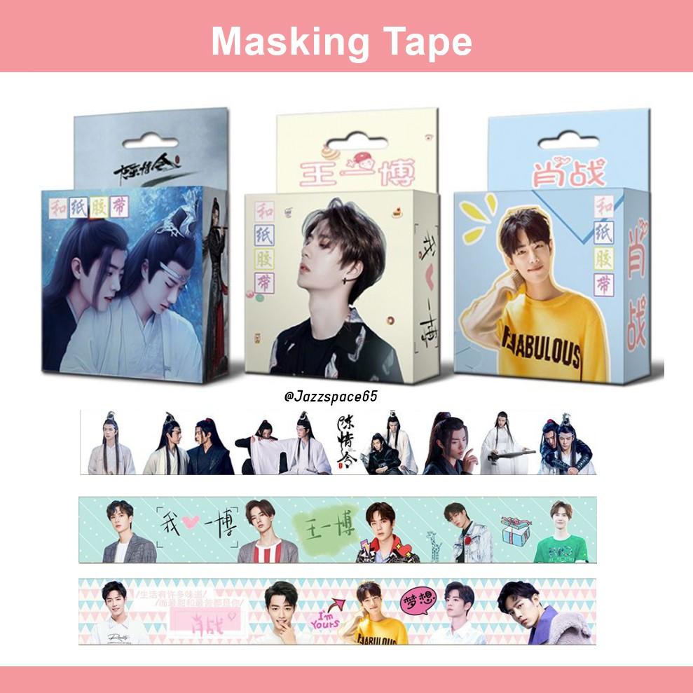 [พร้อมส่ง] Masking tape ปรมาจารย์ลัทธิมาร/ Wang Yibo/ Xiao Zhan เทปตกแต่งน่ารักๆ หวังอี้ป๋อ และ เซียวจ้าน