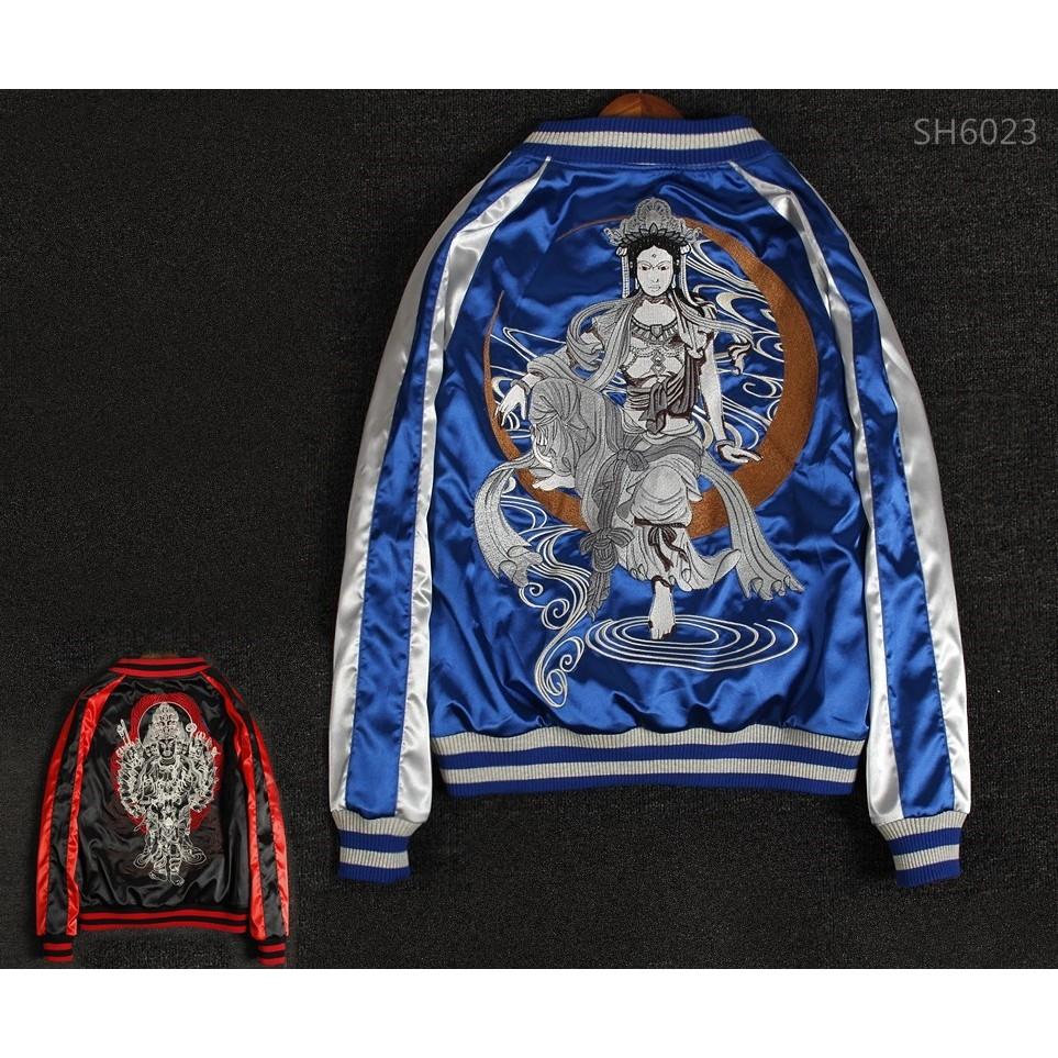 SUKAJAN พรีเมียมเกรด Japanese Souvenir Jacket  แจ็คเกตซูกาจันลาย  GUAN IM
