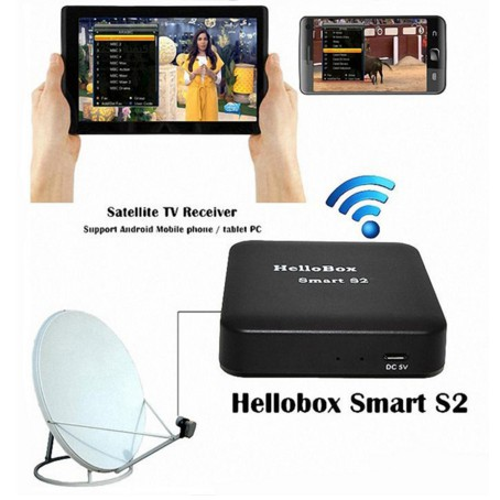 Hellobox Smart S2 Satellite Receiver TV Play On Mobile Phone