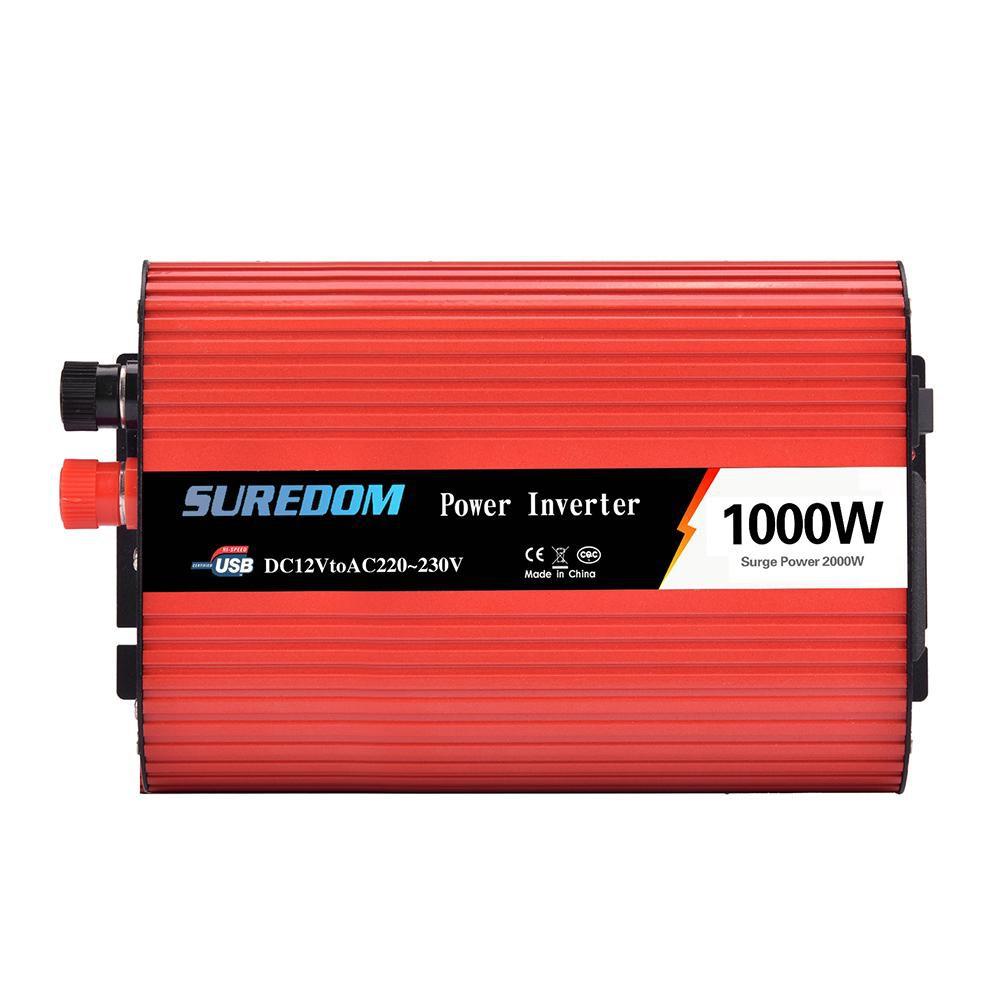 1000W 2000W Car Power Inverter DC 12V To AC 110V 2 AC Outlets RV Solar Converter