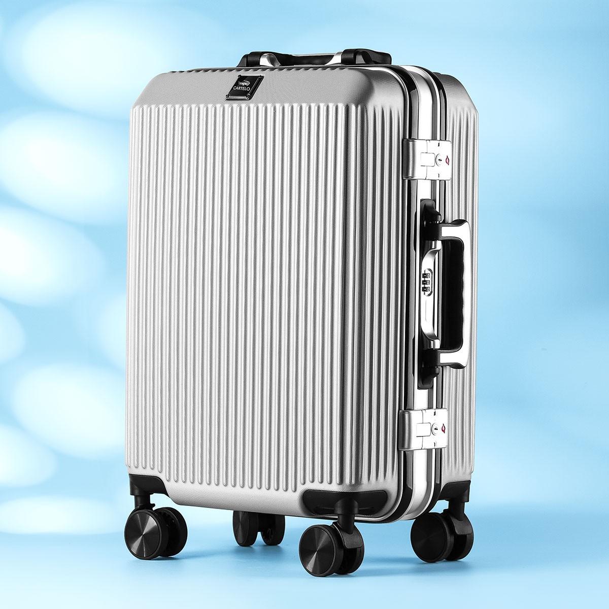 กระเป๋าเดินทางรถเข็นชาย24นิ้วกล่องรหัสผ่านขนาดเล็ก20-ทนทาน26หนา Boarding ผู้หญิง 'S1