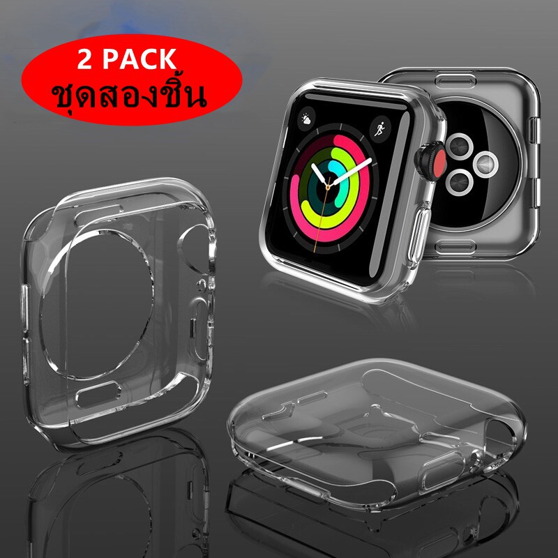 Apple Watch Series 3 2 1 38MM 42MM Case Screen Protector 360 Degree Soft TPU Slim HD Clear Cover For IWatch 4 44MM 40MM