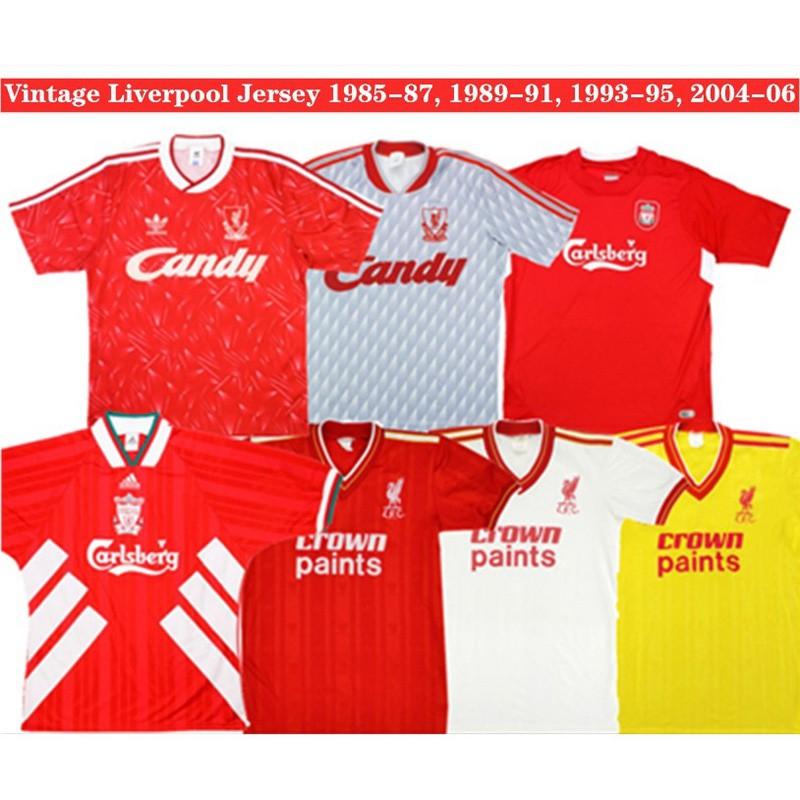 เสื้อฟุตบอลแขนสั้น ทีมลิเวอร์พูล 1985-87 1989-91 1993-95 2004-06