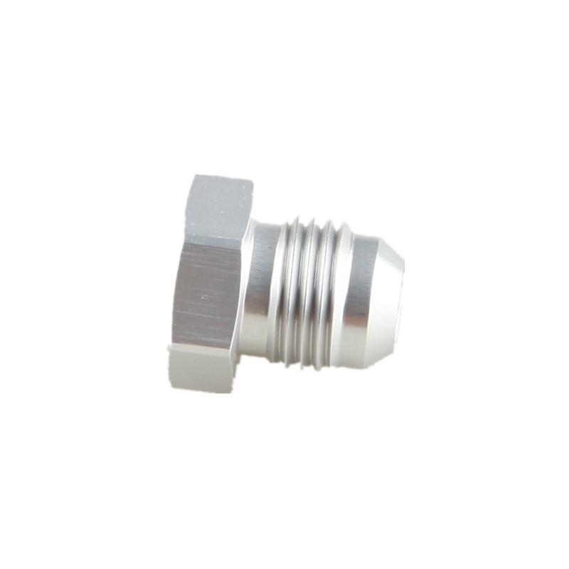 6AN Male AN6 Flare Plug Fitting Aluminum Silver AN Plug