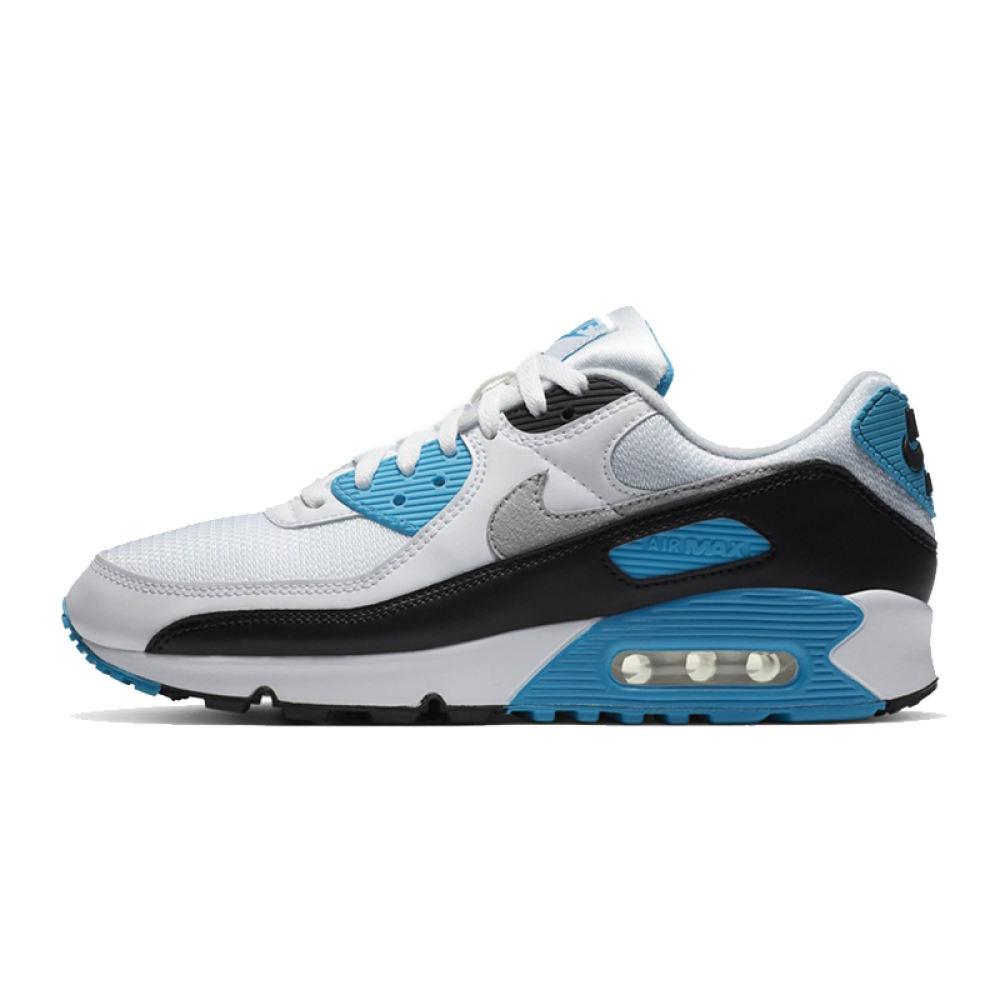 แท้ Nike AIR MAX90 รองเท้าผ้าใบผู้หญิง NIKEรองเท้าผ้าใบสีขาว รองเท้าคัชชูผู้หญิง