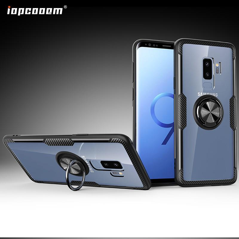 Review Samsung Galaxy S9 Plus Case Samsung Note 9 Case Shockproof Armor Tough Transparent Magnetic Ring Stand Hard Cover