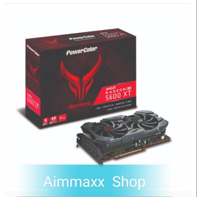 6GB GDDR6 AMD RX5600XT POWER COLOR RED DEVIL OC
