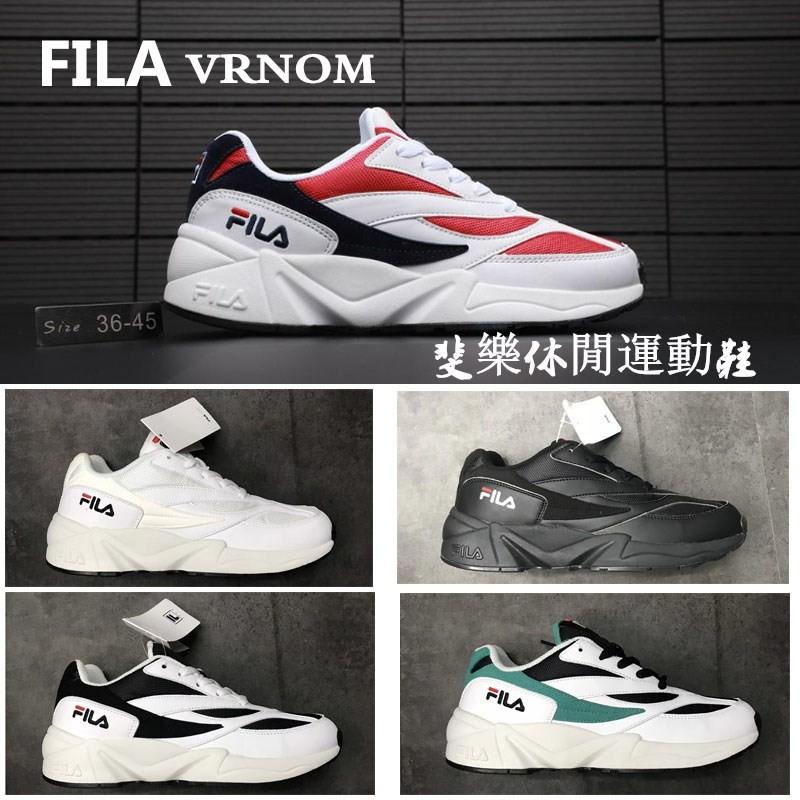 ใหม่】เกาหลีสาย 100% เกาหลีแท้ Fila FILA VRNOM รองเท้าเก่ากีฬารองเท้าวิ่งรองเท้าผู้ชายและผู้หญิงรองเท้า