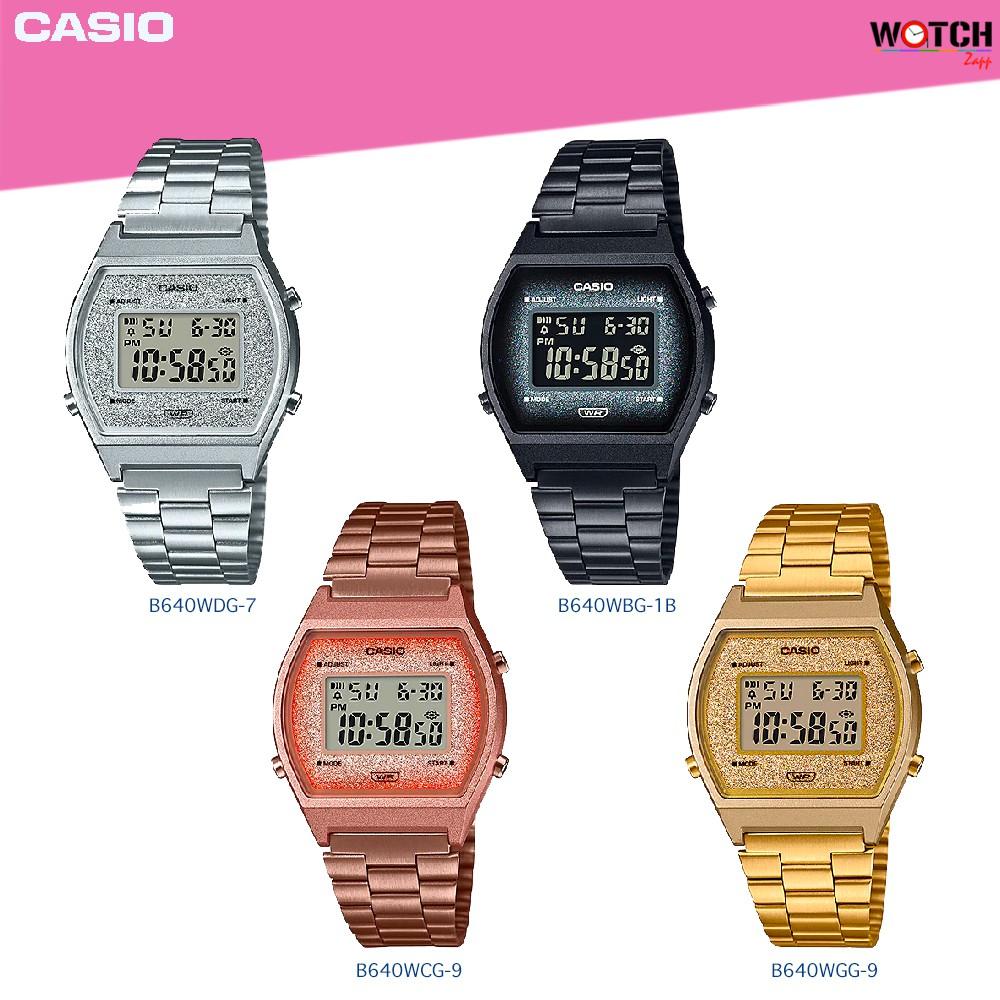นาฬิกาข้อมือ Casio Standard women คาสิโอ B640WDG-7 B640WBG-1 B640WCG-5 B640WGG-9