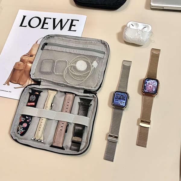 สาย applewatch BUBM เหมาะสำหรับกระเป๋าเก็บสาย Apple iwatch applewatch สายรัด Apple กล่องเก็บข้อมูลแบบพกพา