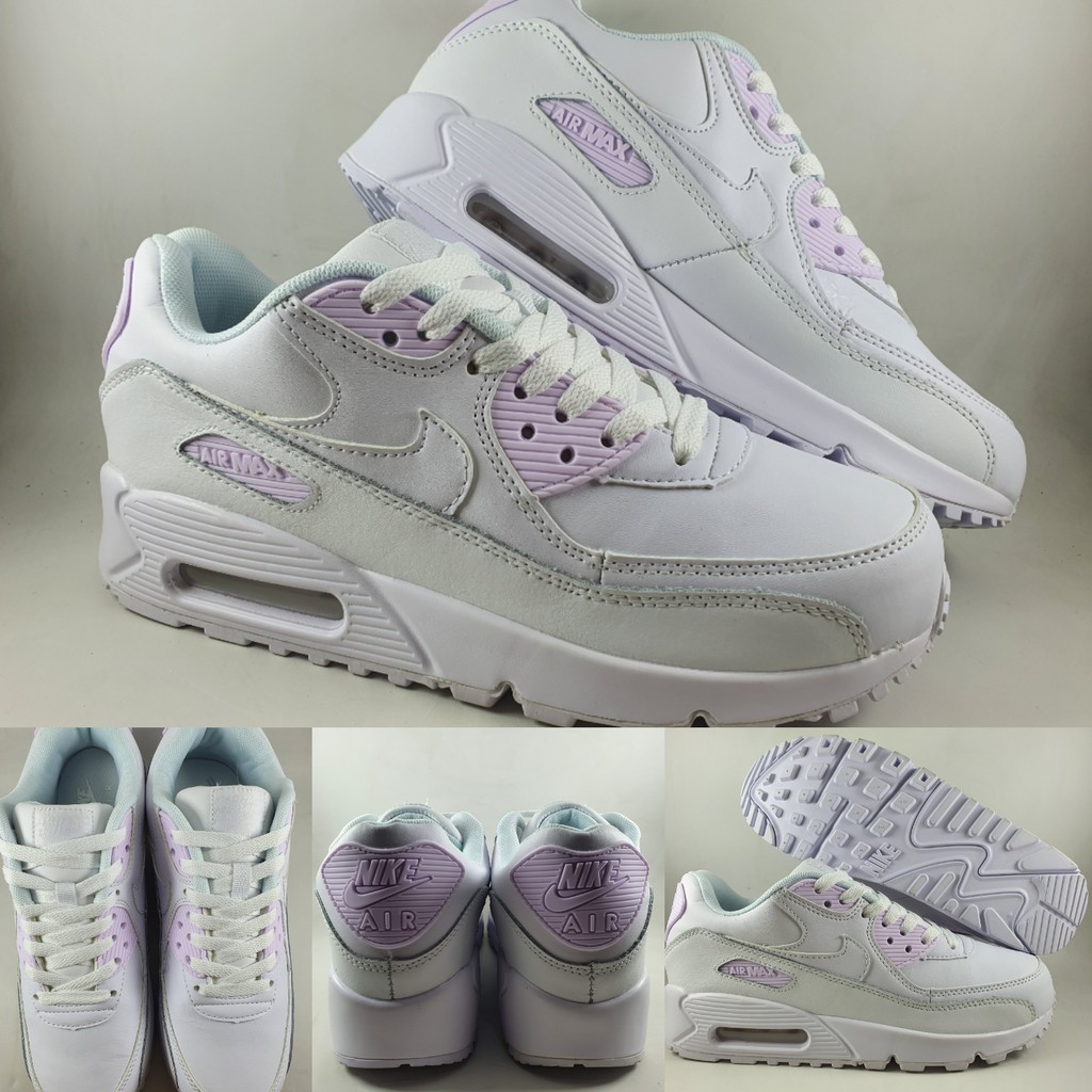 Nike Airmax 90 รองเท้าผ้าใบสีขาวแบบเต็ม
