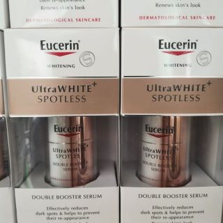 Review (แพคเกจตามรูป)​ Eucerin​ ULTRAWHITE SPOTLESS DOUBLE BOOSTER Serum​ 30ml.