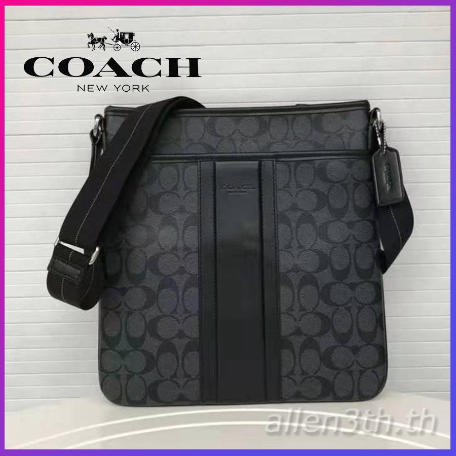 กระเป๋า Coach แท้ F71131 กระเป๋าสะพายข้างผู้ชาย / crossbody bag / กระเป๋าเอกสาร / กระเป๋าสะพายไหล่หนัง