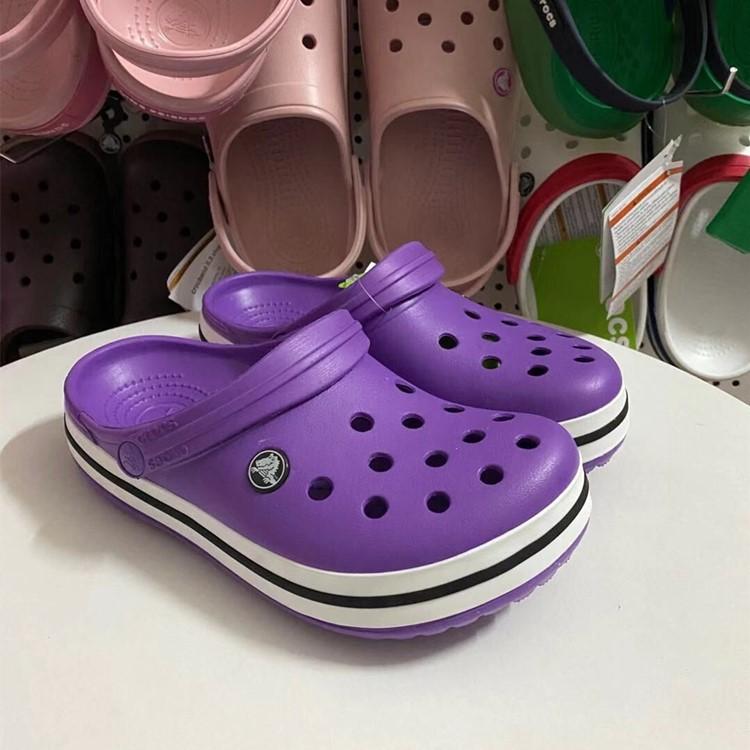 ใหม่แท้บัตร Crocs Crocs Luo รองเท้าชั้นรองเท้าแตะฤดูร้อนแบนลากรองเท้าแตะ