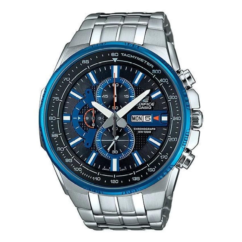 Casio Edifice นาฬิกาข้อมือผู้ชาย สีน้ำเงิน สายสแตนเลส รุ่น EFR-549D-1A2V