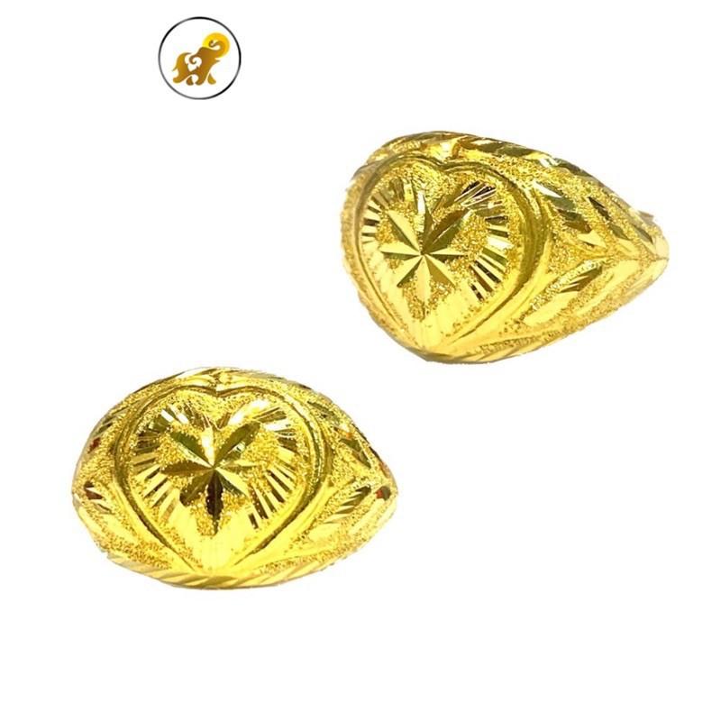 ราคาพิเศษ♟Flash Sale แหวนทองครึ่งสลึง หัวใจโป่งคละลาย หนัก 1.9 กรัม ทองคำแท้ 96.5% มีใบรับประกัน