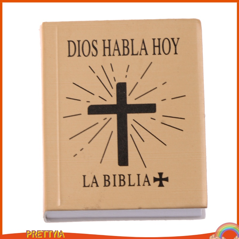 [Prettyia] อุปกรณ์เสริมหนังสือฟิกเกอร์ 1/6 Scene Books Holy Bible สําหรับตุ๊กตา Bjd สีทอง