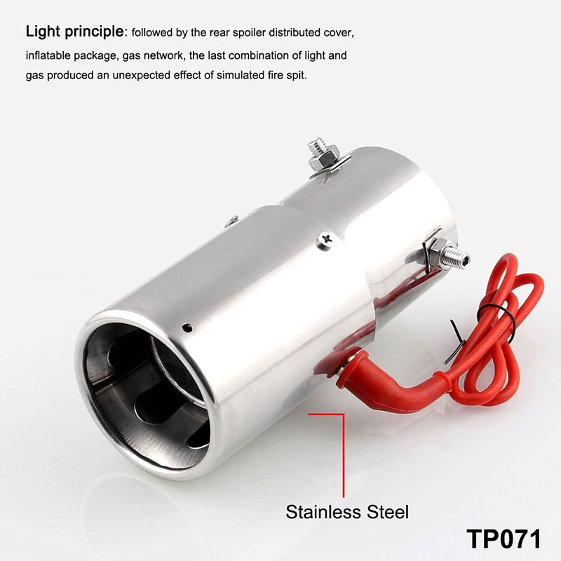 em Car Racing LED Exhaust Pipe Spitfire Red Light Decoration